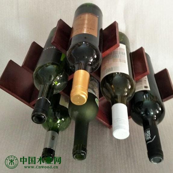 创意小型木制八瓶高档酒架