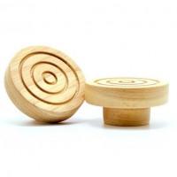木制单孔圆拉手