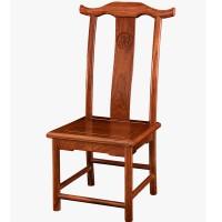 复古红木靠背官帽椅