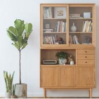 传统欧式白橡木大书柜