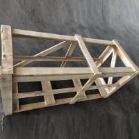 可进叉实木笼式木箱