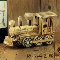 木制仿真火车头