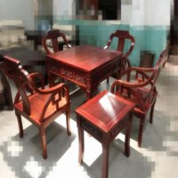 供应非洲红花梨麻将桌 红木家具