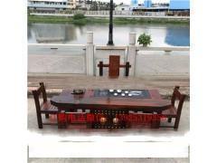 老船木茶桌椅组合简约休闲古典泡茶桌茶几流水茶台