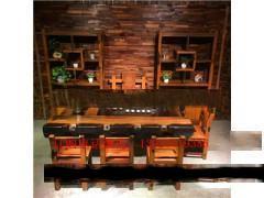 老船木中式茶桌椅组合茶几茶台小型户外茶艺桌古典家具