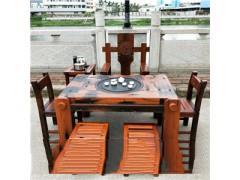 老船木中式茶桌椅组合茶几茶台小型户外茶艺桌