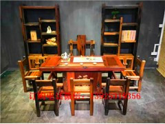 老船木茶桌椅组合批发实木家具枕木龙骨茶台茶几泡茶桌