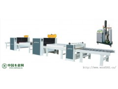 pur贴面线自动 装饰板材贴面生产线 热熔胶贴面生产线
