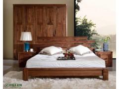 【奉威居品】黑胡桃床-实木床