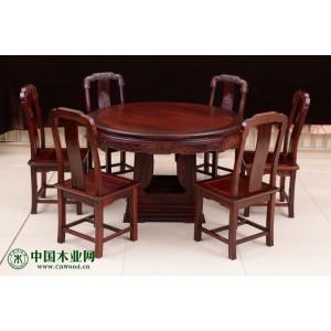 上海红木黑酸枝餐厅家具