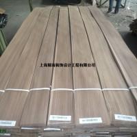 厂家直供白黑胡桃直纹木皮  贴密度板木饰面板