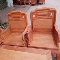 出售缅甸花梨国色天香十件套沙发