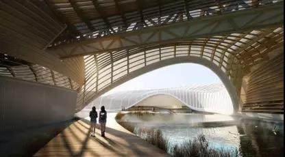 木制家具-纽约建筑师为中国设计了这个国内最大的胶合木结构建筑