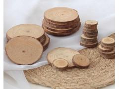 供应木头工艺品原木小号圆形木头片