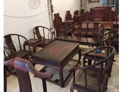 供应红木酸枝长餐桌七件套