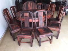 出售1米6大红酸枝圆桌1m6,黑红很靓