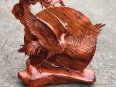 出售缅花雕仙鹤