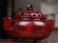 印度小叶紫檀高油密盘香炉