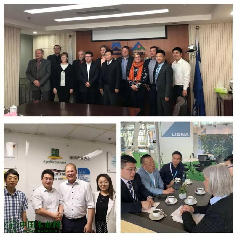 中国林业机械协会先后与奥地利驻华使馆商务处、德国林业技术协会、德国农业协会、芬兰机械协会等有关国家商务机构和商协会进行了会晤交流