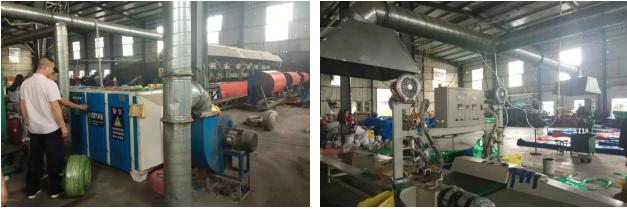 市生态环境局大气污染攻坚检查组对临沂市兰山区宗杰塑料制品厂进行现场检查。
