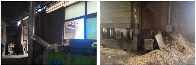 市生态环境局大气污染攻坚检查组对临沂市兰山区杰顺板材厂进行现场检查。