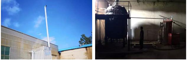 市生态环境局大气污染攻坚检查组对临沂市兰山区殿成板材厂进行现场检查。