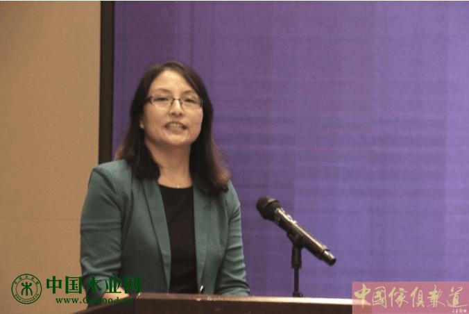 河北省家具协会理事长李凤婕,在开幕式上致辞。
