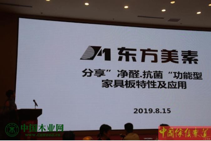 石家庄东方美素净醛抗菌功能板材进行了宣传推介。