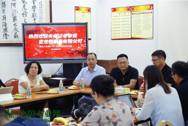 金龙恒董事长陈召佳先生为各大央媒记者朋友欢迎致辞