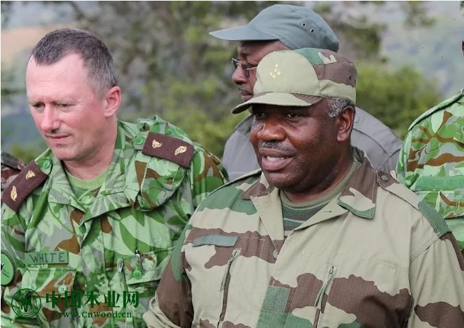 加蓬新任林业与环境部长李·怀特及其在工作中的现场