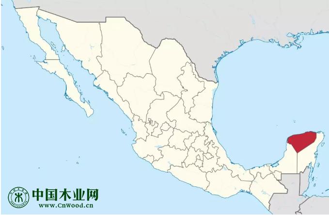 尤卡坦州在墨西哥合众国的位置