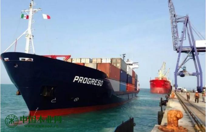 普罗格雷索(Progreso)在尤卡坦州的位置及当地港区码头