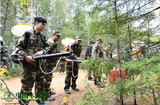 韩家园林业局举行重大林业有害生物灾害应急处置演练活动