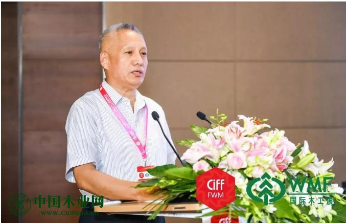 中国木材与木制品流通协会副会长和秘书长李佳峰致辞