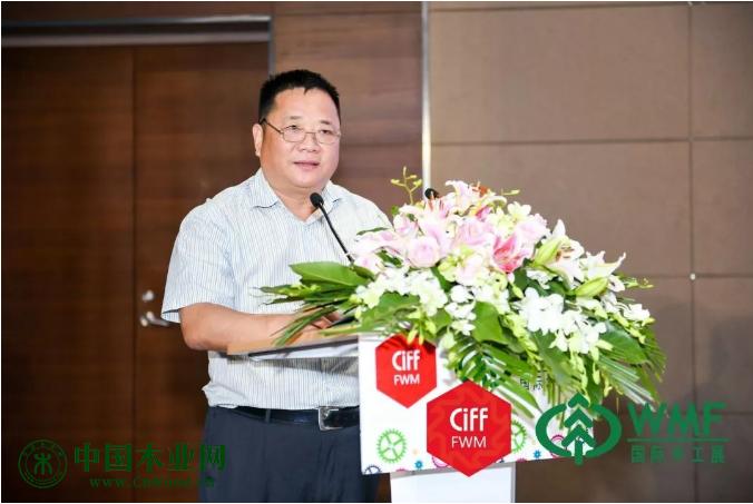 大丰港经济区造纸产业园管理办公室主任张渊涛代表园区及口岸工委会讲话
