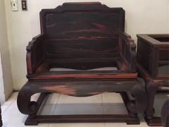 供应老挝大红酸枝〈交趾黄檀〉宝座沙发十三件套