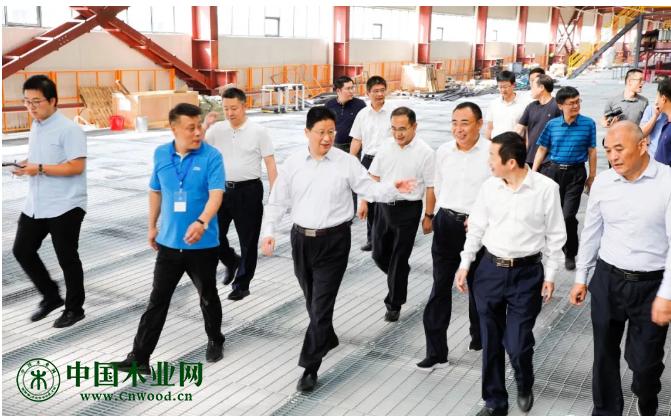 临沂市委副书记、市长孟庆斌来兰山区调研木业产业转型升级工作