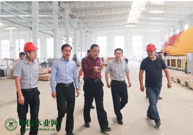 兰山区领导调研木业转型升级推进工作