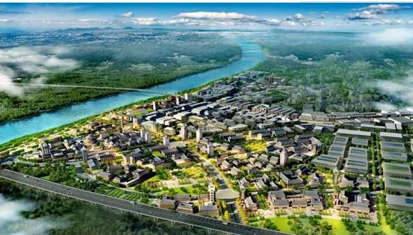 中国红木特色小镇规划效果图