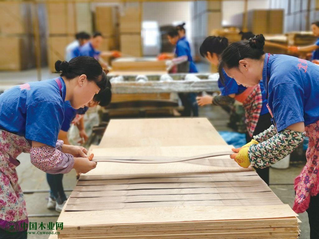 工人正在有条不紊的生产