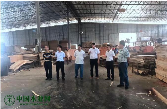 崇左市政协副主席农海波一行5人到广西山圩产业园调研