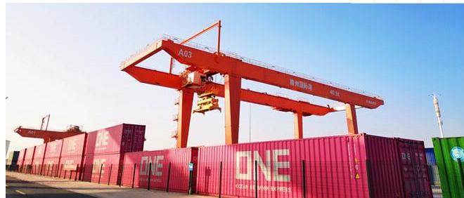 赣州国际陆港集装箱