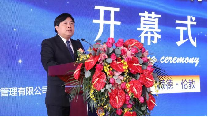 广东顺德伦教街道党工委书记卢德全,于2019年12月6日在第20届中国顺德(伦教)木工机械博览会上致辞。