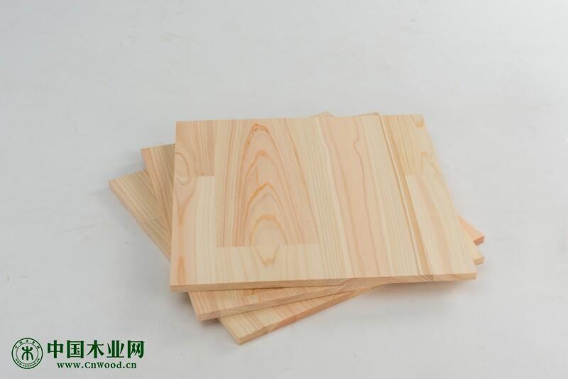 供应日本桧木指接板 集成材 单双面无节 双面带节(明齿暗齿)