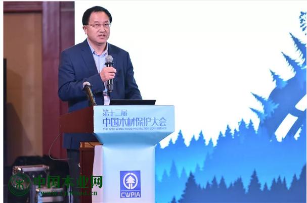 木材节约发展中心主任刘能文致辞