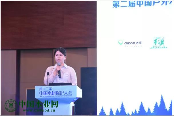 越井木材工业株式会社厂家代表蔡秋婷分享《越秀木建筑外墙应用介绍》