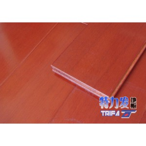 特力发地板供应印尼桃花心实木地板