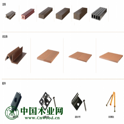 威力塑木地板配件:不锈钢扣(配不锈钢螺丝)