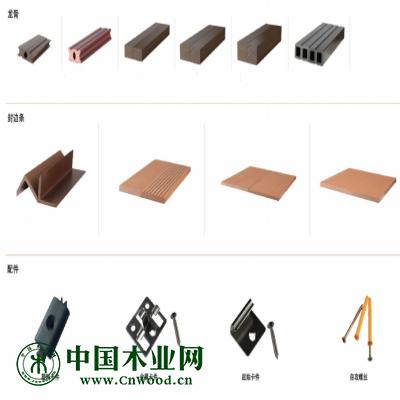 威力塑木地板配件:ABS特殊胶扣(配不锈钢螺丝)