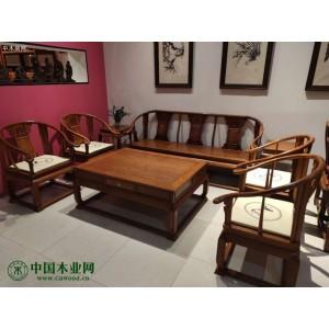 新房装修,想买一套缅甸花梨红木沙发6件套价格大概是多少钱?